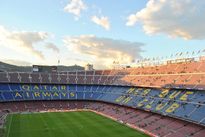 Camp Nou at Sunset.