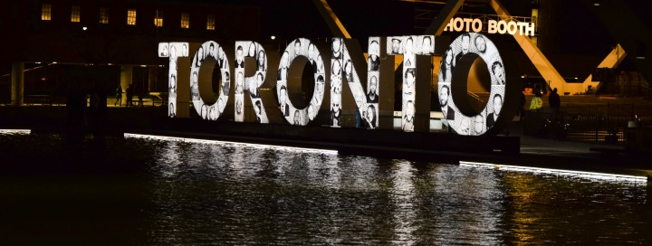 Nuit Blanche version of Toronto sign