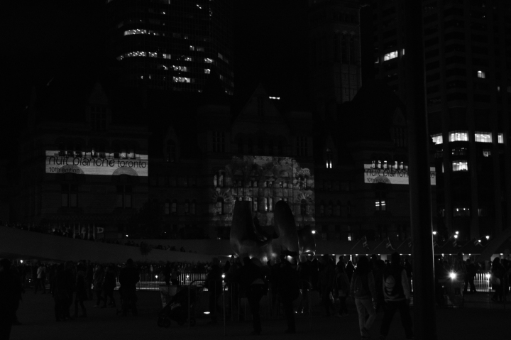 The nightly heart beating fast on Nuit Blanche.